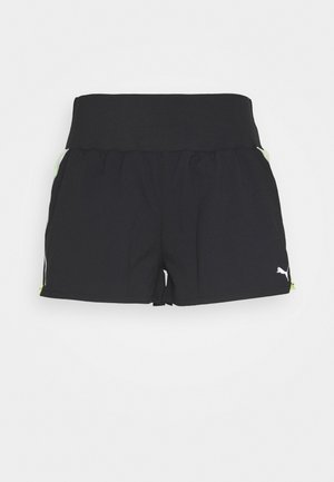 RUN LITE SHORT - Sports shorts - black/fizzy yellow