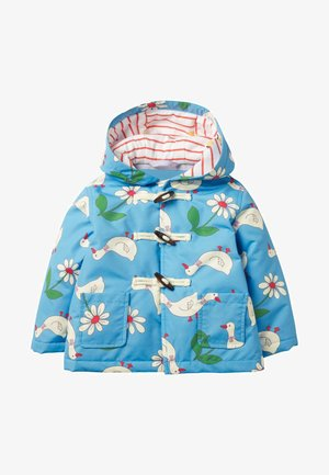 Winter coat - baby blue daisy duck