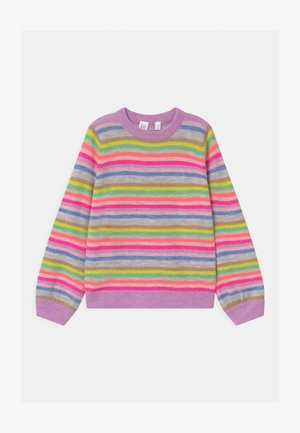 GIRL HAPPY STRIPE - Jumper - purple rose