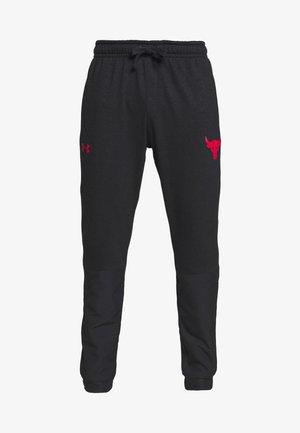 PROJECT ROCK - Teplákové kalhoty - black full heather/versa red