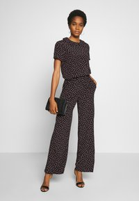Pieces - PCNIMMA WIDE PANT - Trousers - black - 2