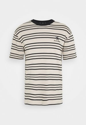UNISEX SWEET LOOSE STRIPED TEE - T-shirt med print - ecru/black
