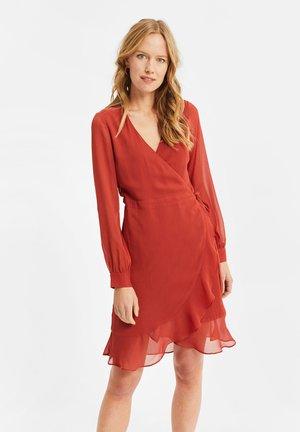 MET LUIPAARDDESSIN - Day dress - red