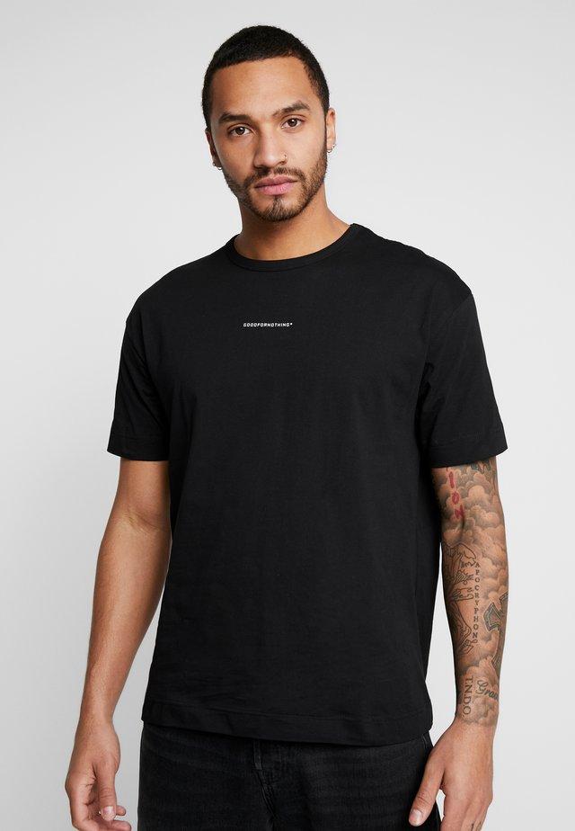 BASIC - T-shirt imprimé - black