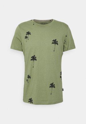 TEE - Print T-shirt - oil green