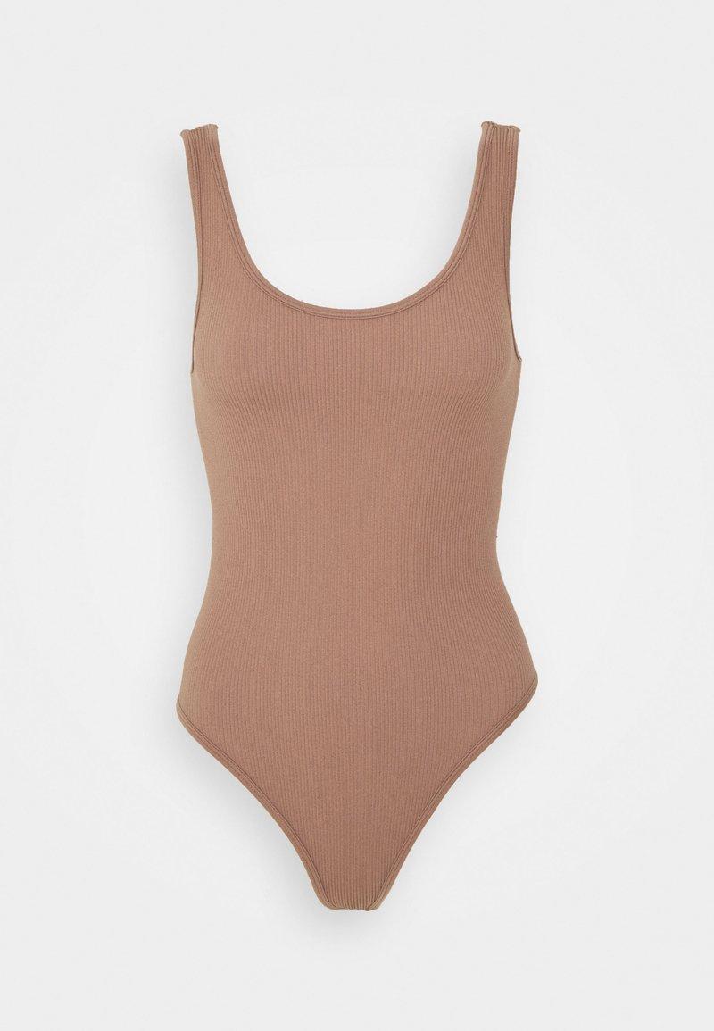Vero Moda - VMEVE BODYSTOCKING - Body - brownie