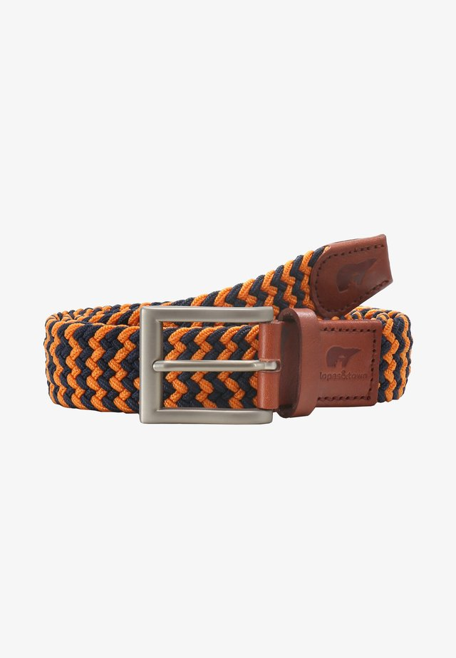 Ceinture tressée - blue, orange