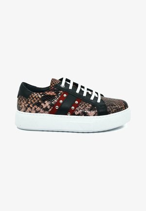 HAND MADE GENUINE - Sneakers laag - serpentine red