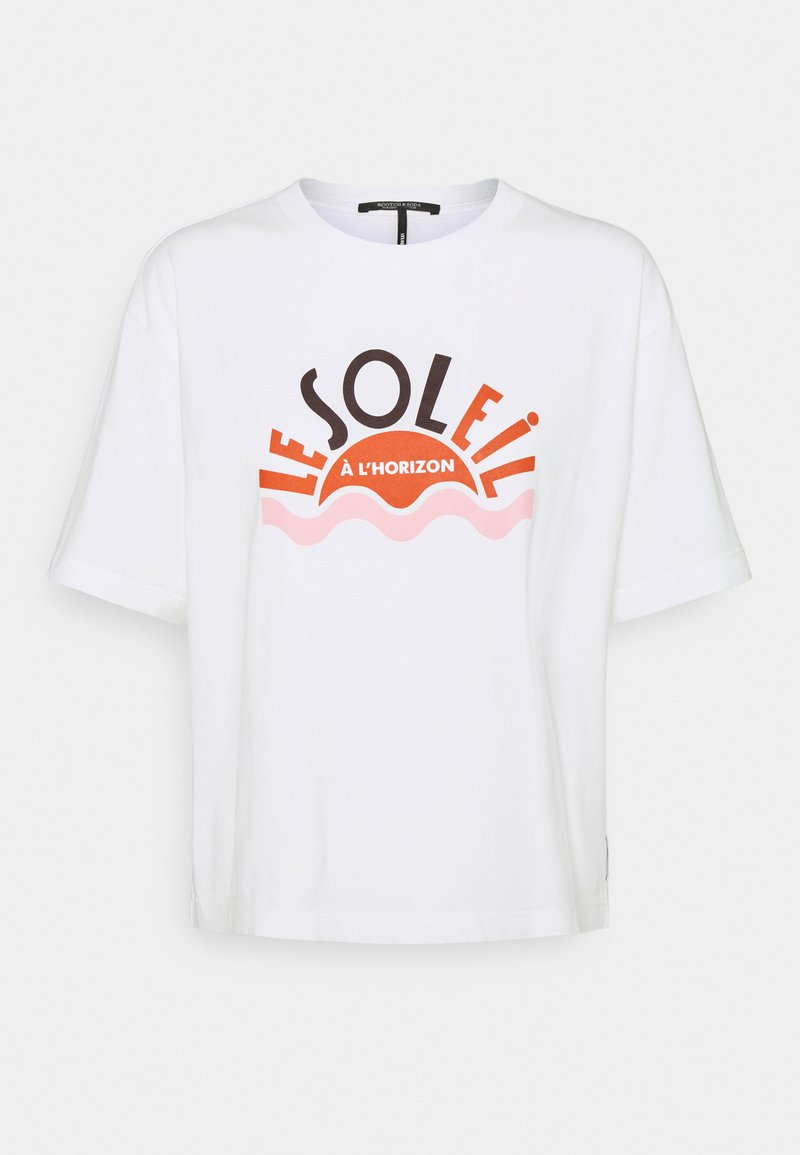 Scotch & Soda - RELAXED FIT TEE WITH GRAPHIC - Print T-shirt - off white