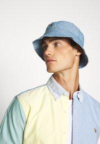 Polo Ralph Lauren - BUCKET HAT - Klobouk - blue chambray - 0