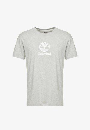 STACK LOGO TEE - T-shirt imprimé - medium grey heather