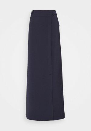 SPLIT DETAIL LONG FAILLE SKIRT - Maxi skirt - midnight blue