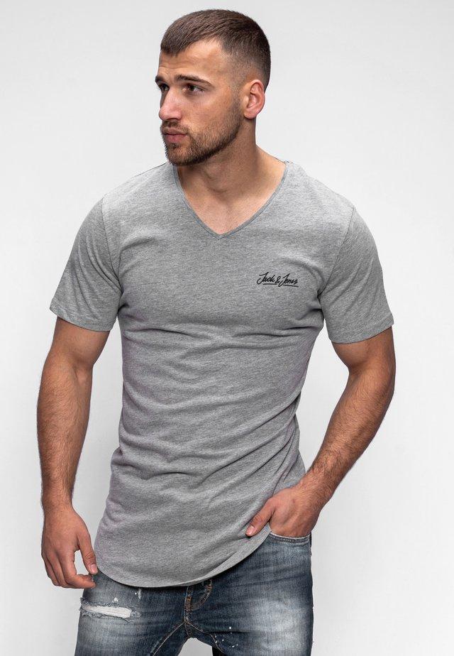 NEWRAR  - Basic T-shirt - light grey melange