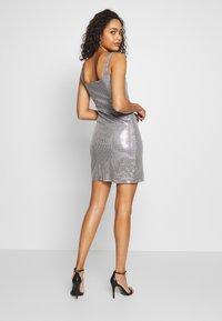 Club L London - SEQUIN NECK MINI DRESS - Cocktail dress / Party dress - grey - 2