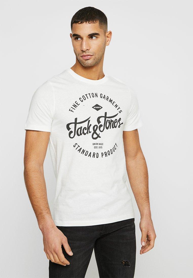 Jack & Jones - JJERAFA - T-Shirt print - cloud dancer