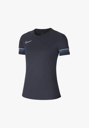 W NK DF ACADEMY21  - T-shirt sportiva - obsidian/white/royal blue/white
