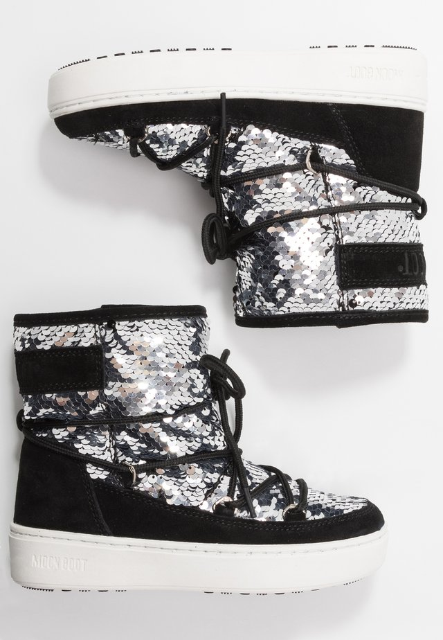 PULSE MID GIRL DISCO - Lace-up boots - black
