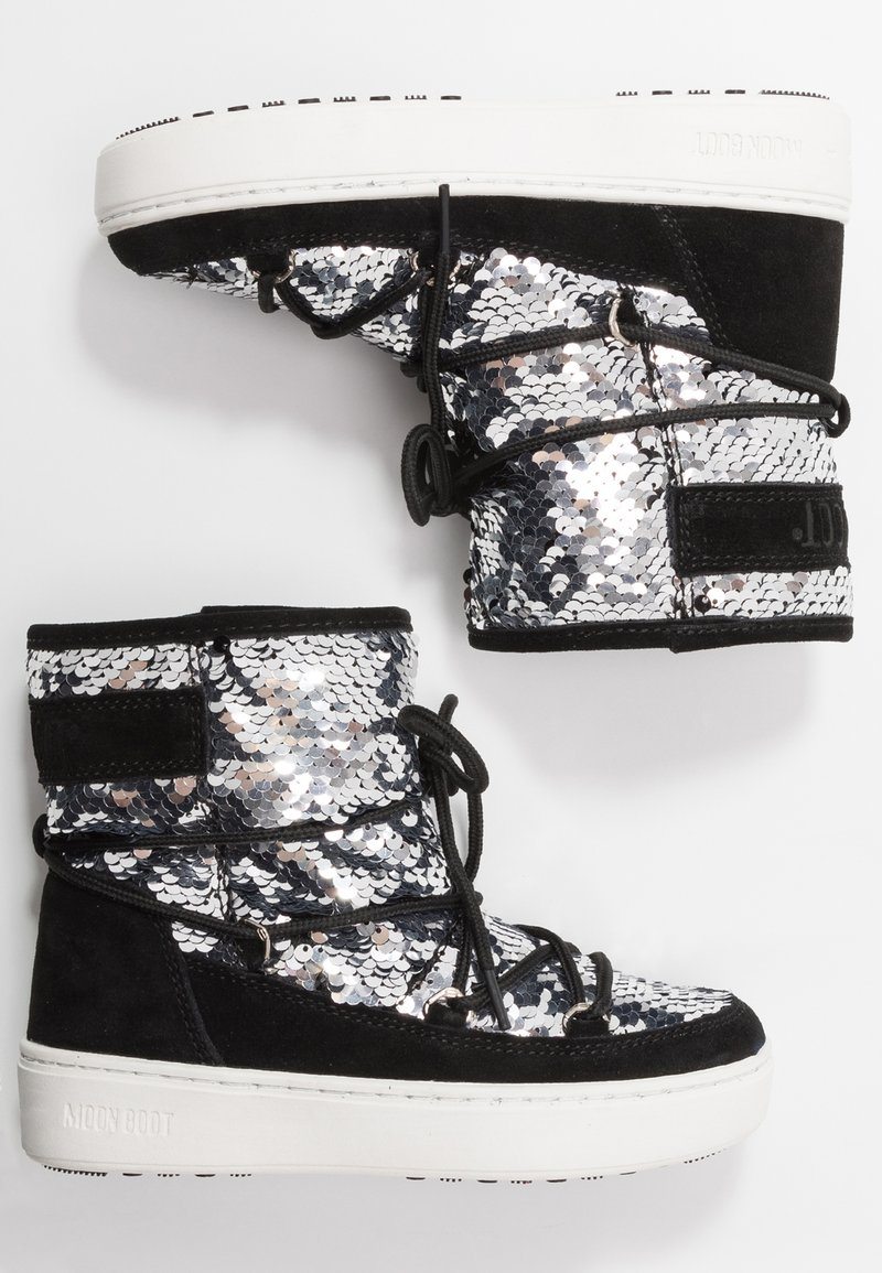 Moon Boot - PULSE MID GIRL DISCO - Lace-up boots - black