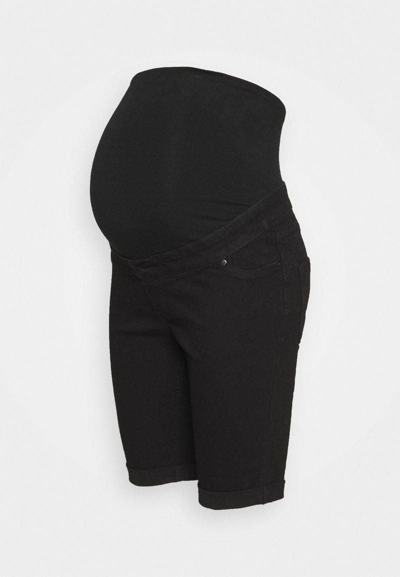 New Look Maternity - LAUREN KNEE - Jeansshort - black