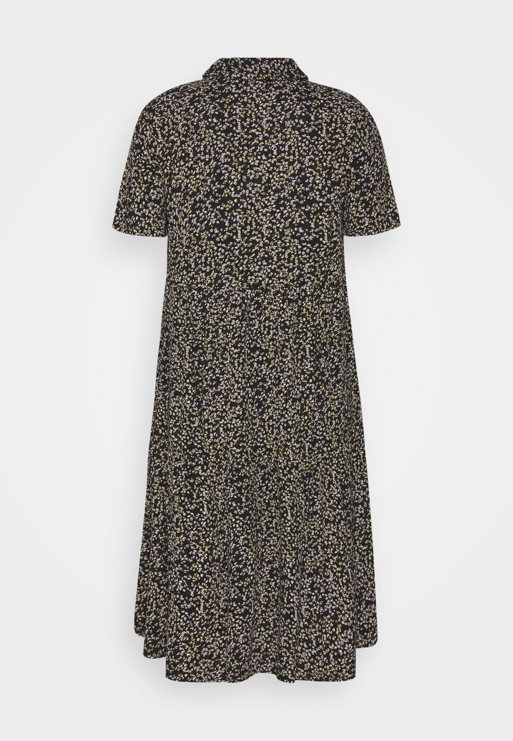 Zizzi MIDI DRESS - Vestido camisero - black vB9Cv
