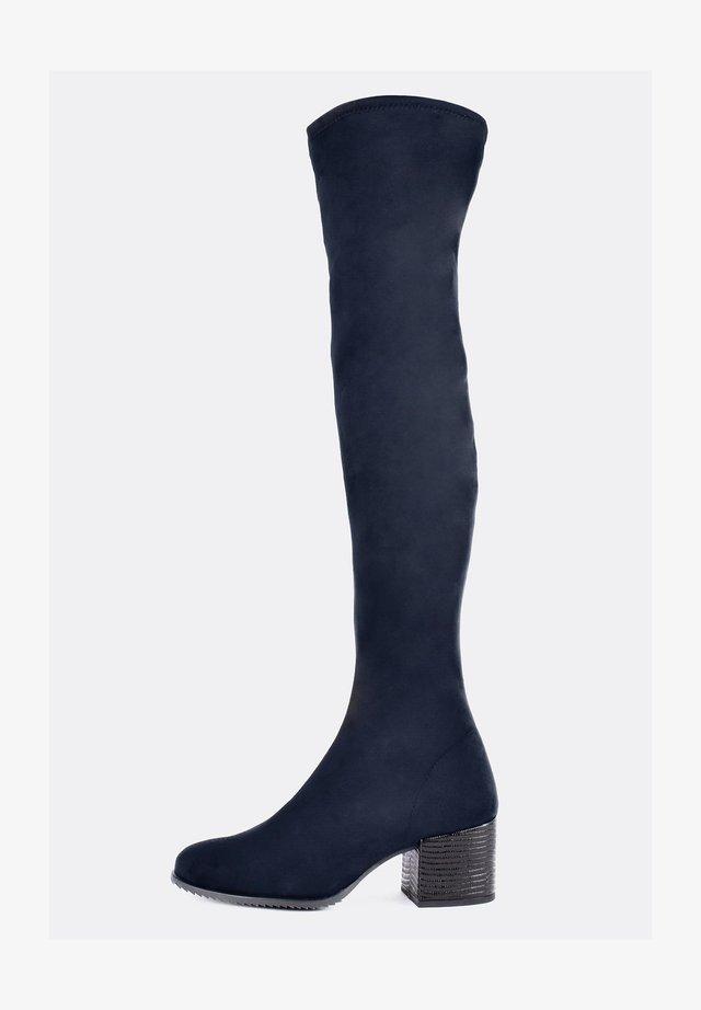 Stivali sopra il ginocchio - navy blue