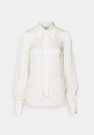 BLOUSON SLEEVE SHIRT - Button-down blouse - daisy white
