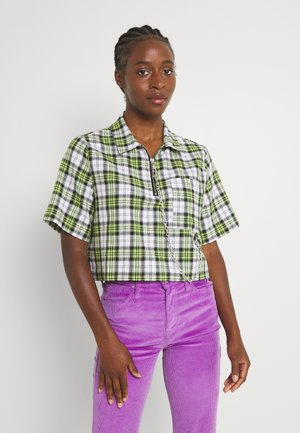 COOLER - Blouse - green/white check