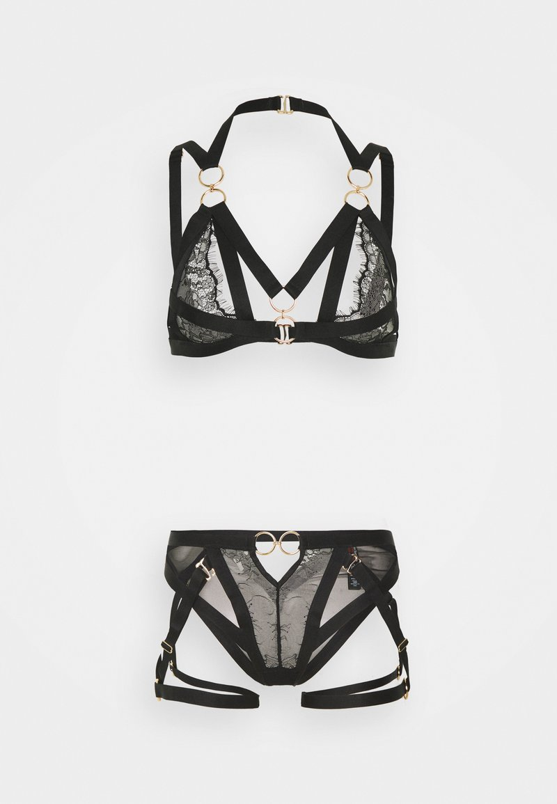 Ann Summers - THE VICTORIOUS SET - Trojúhelníková podprsenka - black