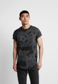 G-Star - SWANDO RELAXED RT S/S - Print T-shirt - black - 0