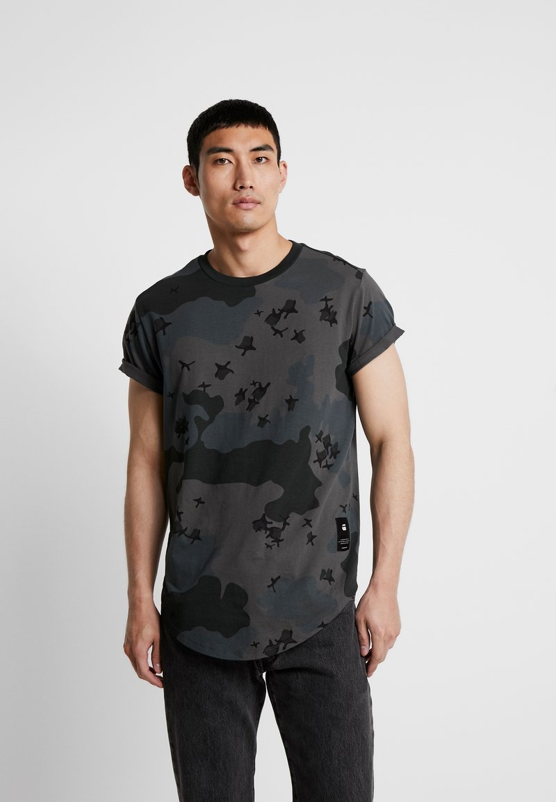 G-Star - SWANDO RELAXED RT S/S - Print T-shirt - black