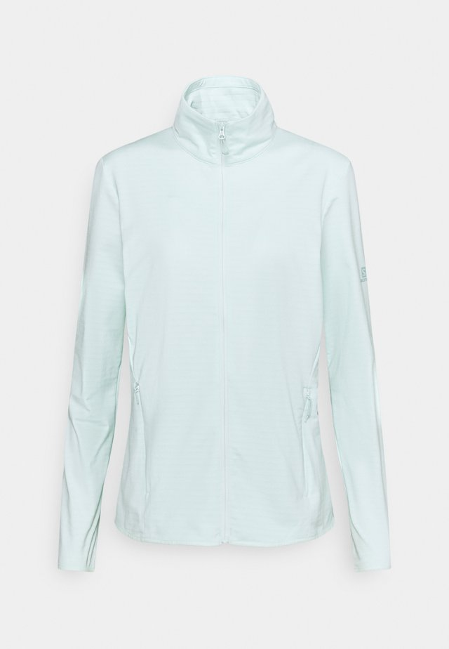 OUTRACK FULL ZIP MIDLAYER - Fleece jacket - opal blue