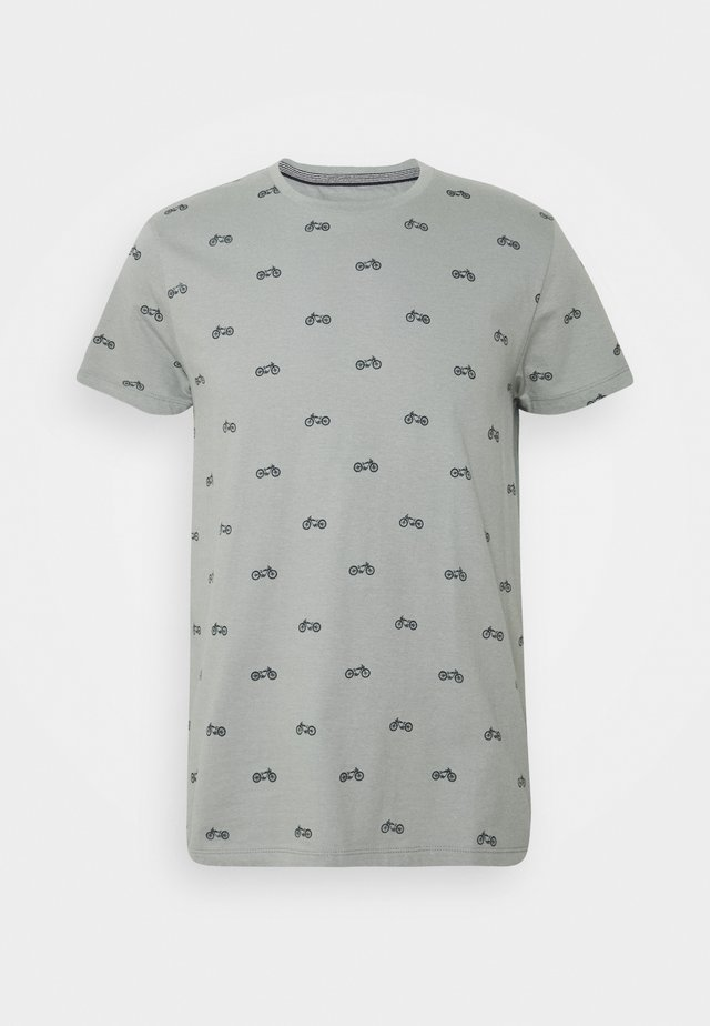 T-shirt con stampa - hedge green
