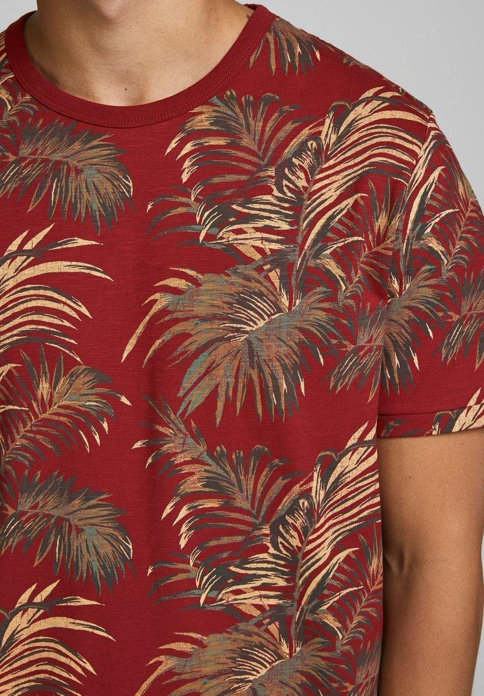 Jack & Jones PREMIUM Print T-shirt - red dahlia LnlMy