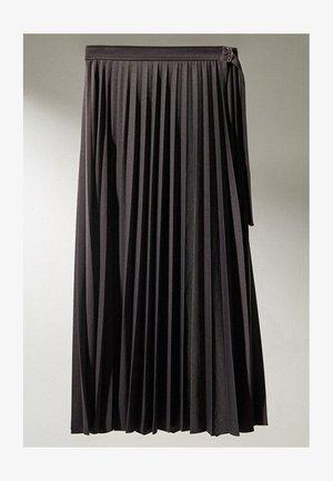 MIT SCHNALLE  - Jupe plissée - dark blue
