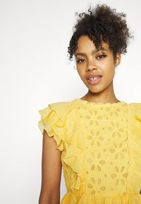 Lace & Beads - RORI DRESS - Day dress - yellow - 3