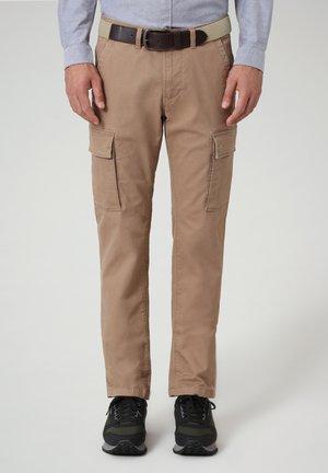 MOTO WINT - Cargo trousers - beige portabel