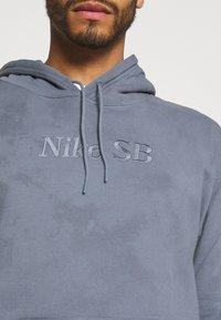 Nike SB - HOODIE UNISEX - Sweatshirt - ashen slate/midnight navy - 3