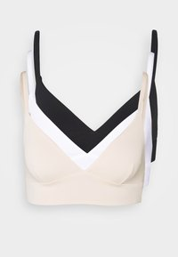 Anna Field - 3 PACK - Bustier - black/white/nude - 6