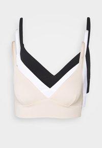 Anna Field - 3 PACK - Topp - black/white/nude - 6