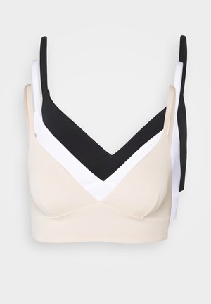 3 PACK - Top - black/white/nude