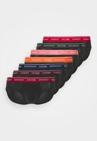 Calvin Klein Underwear - DAYS OF THE WEEK HIP BRIEF 7 PACK - Briefs - black - 5