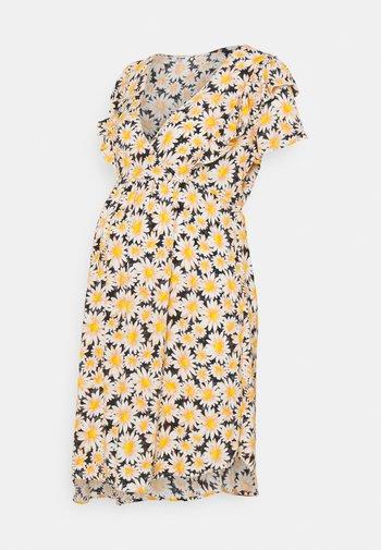 CROSS FRONT BABYDOLL DRESS - Sukienka letnia - black