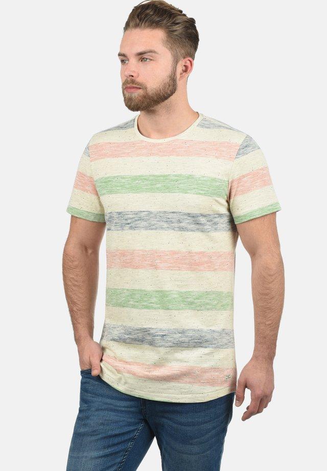 EFKIN - Print T-shirt - denim blue