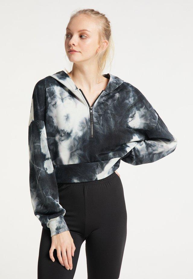 Sweat à capuche - schwarz blau weiss