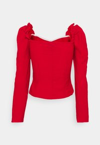 Missguided Tall - FRILL SHOULDER MILKMAID  - Blouse - red - 1