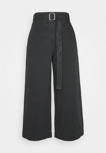 WASHEDBELTED PANT - Pantalon classique - black