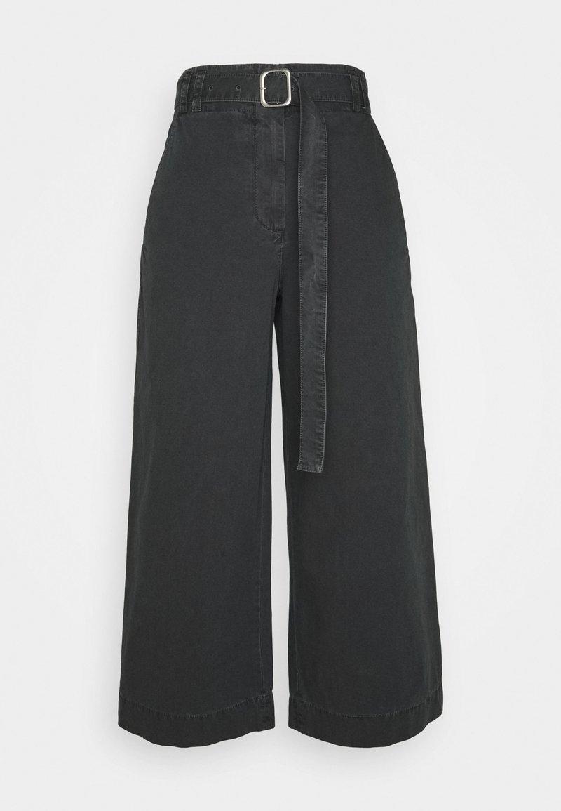 Proenza Schouler White Label - WASHEDBELTED PANT - Kalhoty - black