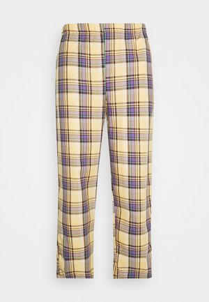 RELAXED TROUSER IN PASTEL CHECK UNISEX - Pantalones - multi