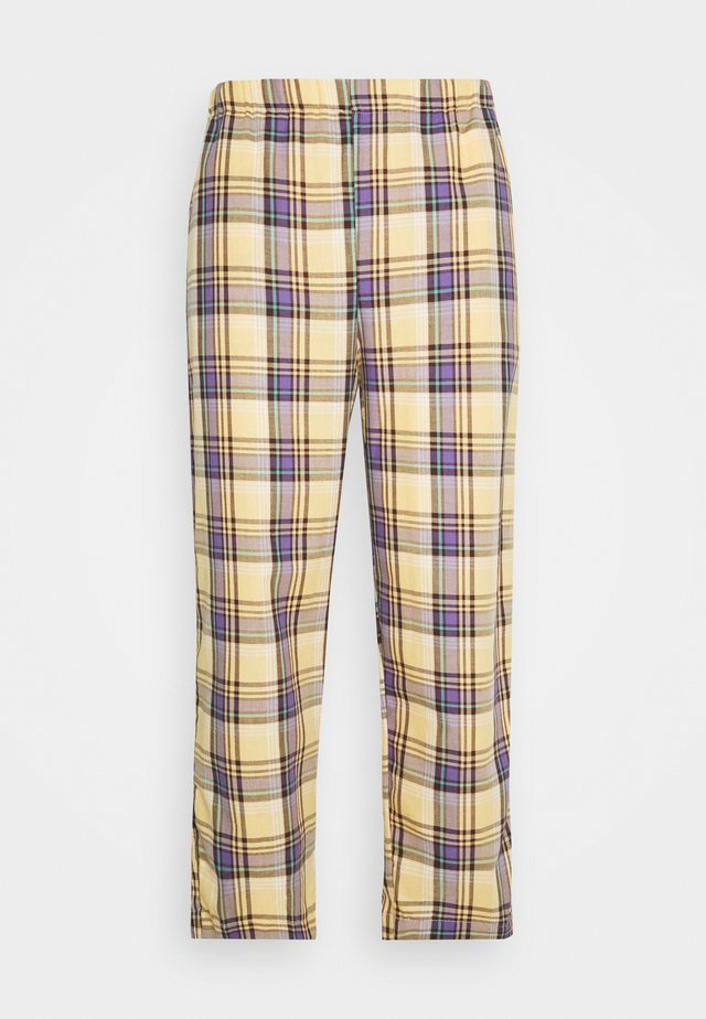RELAXED TROUSER IN PASTEL CHECK UNISEX - Trousers - multi