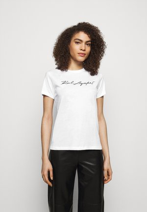 SIGNATURE - T-Shirt print - white